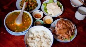 Typical lunch in Vietnam