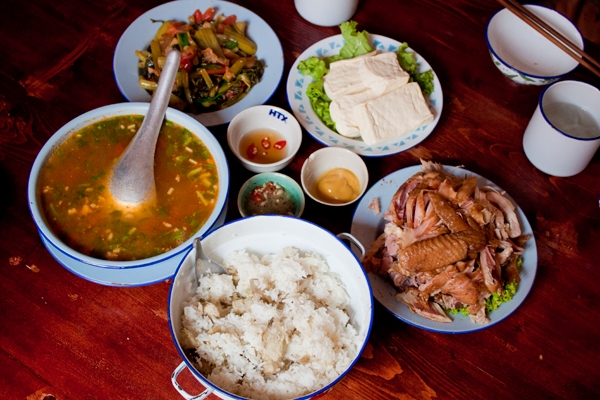 Typical lunch in Vietnam